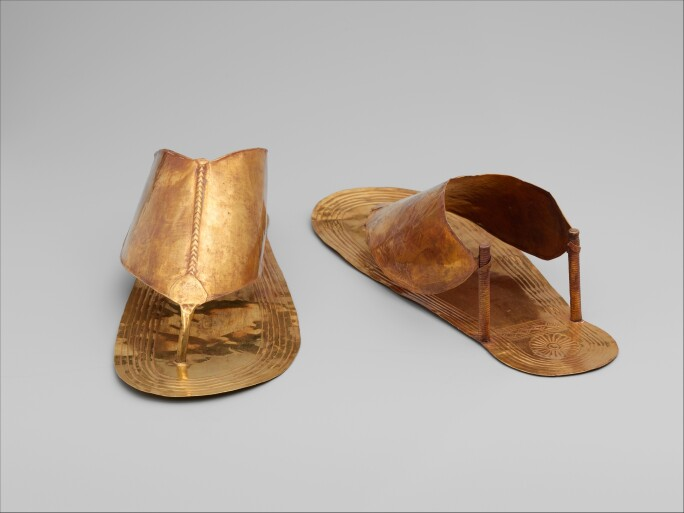 Gold sandals from Ancient Egypt.