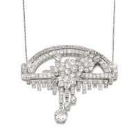 5. diamond pendent necklace, early 20th century