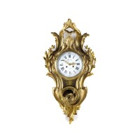 12. an attractive french louis xv-style gilt bronze cartel clock, planchon, last quarter 19th century