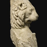 55. a roman marble lion trapezophoros, circa 2nd century a.d. | a roman marble lion trapezophoros