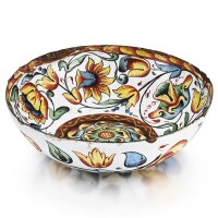 4. an enamelled copper bowl, solvychegodsk, late 17th century |