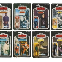 30. eight star wars empire strikes back action figures, 1980