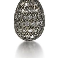 301. a fabergé jewelled egg pendant, circa 1895