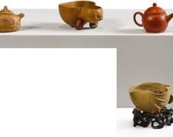 1201. four miniature yixingwares 20th century |