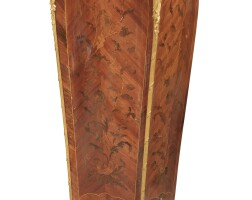 26. françois linke (1855 - 1946)a french gilt-bronze mounted kingwood and satiné marquetry gaine, paris, circa 1900  