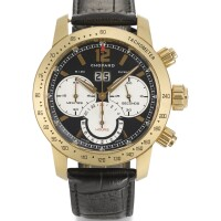 12. chopard | ayellow gold automatic flyback chronograph wristwatch with registers and date ref 1268 case 1437441 no 199/250 mille miglia jacky ickxcirca 2003