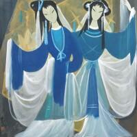 139. lin fengmian (1900-1991) deux danseuses