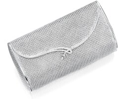 1619. white gold and diamond evening bag