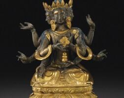 115. 十八世紀 西藏 鎏金銅尊勝佛母坐像