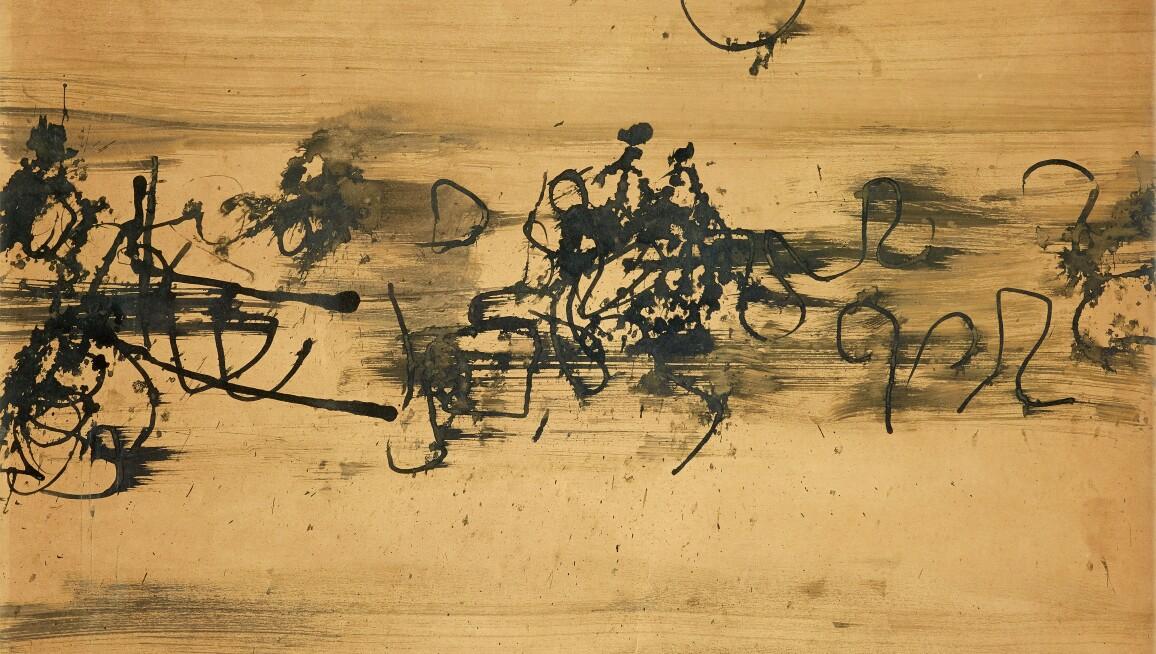 V.S. Gaitonde, Untitled, 1962.  Estimate INR 1,30,00,000-1,80,00,000.