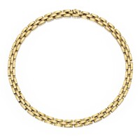 4. 18 karat gold 'panthère' necklace, cartier, france