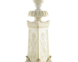26. an italian neoclassical carved alabaster torchère, now mounted as a lamp circa1840