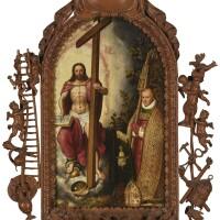6. gillis claeissens | christ the saviour adored by abbot robert holman