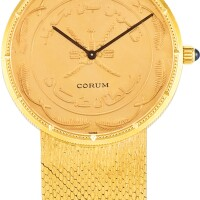 132. corum | a yellow gold coin watch, made for the sultanate of oman, circa 1990