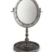 42. a polished steel dressing table mirror, tula, circa 1800