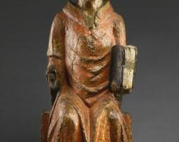 11. probably german, lower rhine,mid-14th century | saint nicholas enthroned