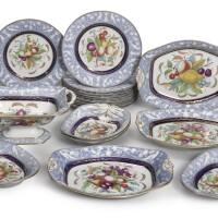 113. a new hall bone chinapart dessert service circa 1815-20