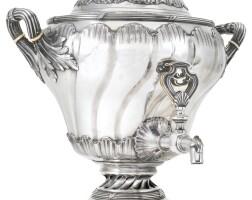 441. a fabergé silver samovar, moscow, circa 1895