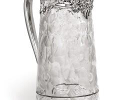 28. an american silver-mounted cut-glass ewer, tiffany & co., new york, circa 1902-07  