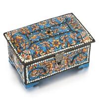 2. a rare enamelled casket, solvychegodsk, late 17th century |