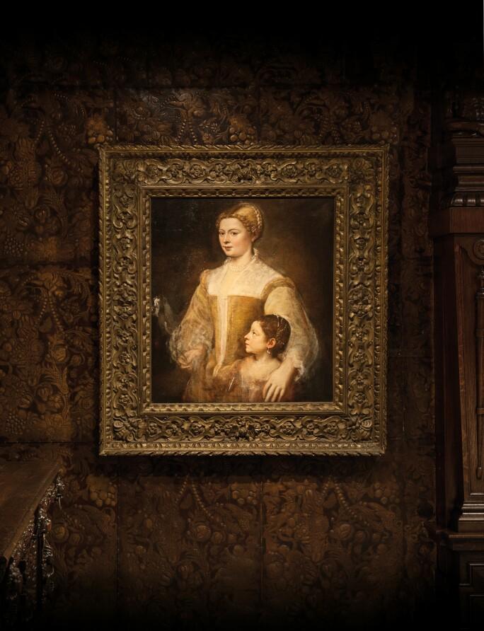 sfeerbeelden 'Portret van een dame en haar dochter' van Titiaan
