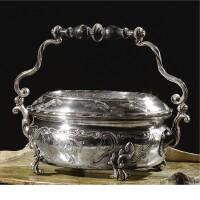 8. an italian silver foot warmer, maker's mark mg two stars, venice, 18th century