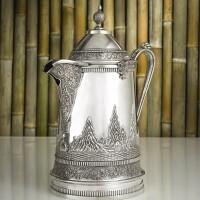512. a rare chinese export silver ice water pitcher, da xing, canton, circa 1880 |