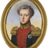325. henri benner | portrait of grand duke nicholas pavlovich, later emperor nicholas i of russia (1796-1855), circa 1821