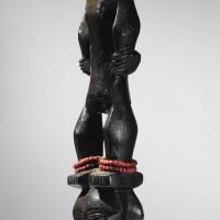 199. luba figural staff finial, democratic republic of the congo