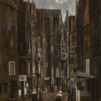 36. 雅各布斯·弗雷 | 《小鎮的鵝卵石路與交談的人》