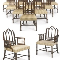 21. an important set of twelve george iii mahogany dining chairs circa 1760