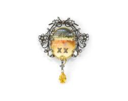 11. enamel and diamond brooch/pendant, circa 1899