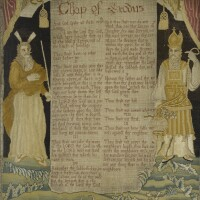 333. a fine english needlework picture, 'the chapter of exodus' |