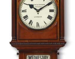 155. a mahogany wall timepiece with calendar, birch & gaydon, london, circa 1910 |