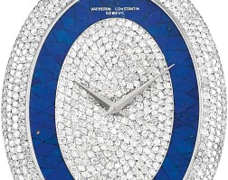 16. vacheron constantin | reference 53701 a white gold and diamond-set pendant watch with lapis lazuli dial,made in 1977