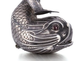 5. f. sermand | an extremely rare silver watch in the form of a dolphincirca 1640