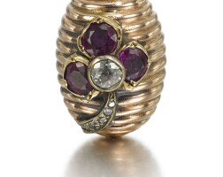 316. a fabergé jewelled gold egg pendant, circa 1895