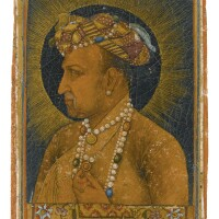26. a bust-length portrait of the emperor jahangir, signed by daulat, mughal, dated 1627