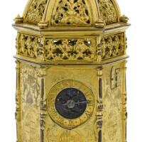 2. 法國製 | 文藝復興時期銅鎏金六角座鐘,年份約1550