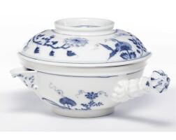 5. a rare meissen pouring bowl and cover circa 1731-36