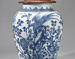 1006. a chinese blue and white jar and a cover 19th century