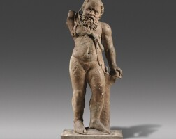 36. a roman marble figure of silenus, circa 2nd century a.d., with circa 18th century restorations   a roman marble figure of silenus