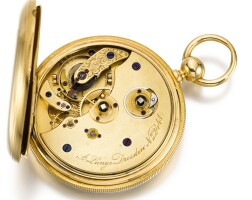 17. a. lange, dresden   a gold open-faced free-sprung key wound lever watchcirca 1860 no. 2441