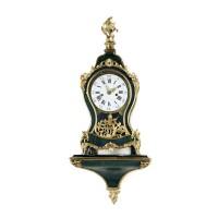36. a swiss 'neuchateloise' painted gilt brass mounted bracket clock, circa 1770