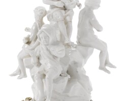 310. a louis xv style gilt-bronze-mounted french white porcelain group the porcelain mid-18th century, the mounts late 19th century