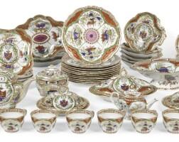 369. a chamberlain's worcester composite armorial part-tea, dinner and dessert service, circa 1800-1810