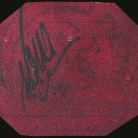 1. the british guiana one-cent black on magenta