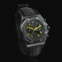 48. audemars piguet | royal oak offshore end of days edition, reference 25770sn a limited edition pvd-coated stainless steel chronograph wristwatch with date, circa 2016