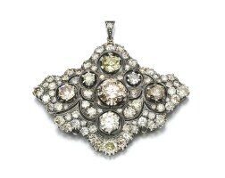 41. diamond pendant/brooch, late 19th century