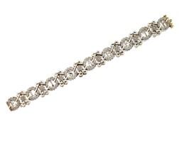77. platinum, gold, diamond and enamel 'elisabeth' bracelet, circa 1900